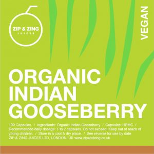 Organic Indian Gooseberry 100 vegan capsules