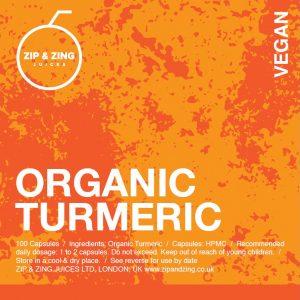 Organic Turmeric 100 vegan Capsules